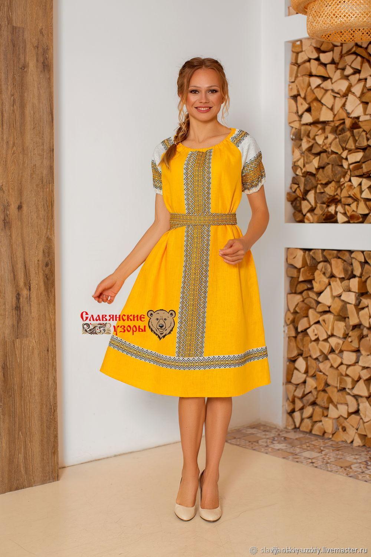 Dress festive linen Autumn, Dresses, St. Petersburg,  Фото №1