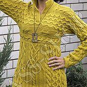 Одежда ручной работы. Ярмарка Мастеров - ручная работа Пуловер вязаный с аранами. Handmade.