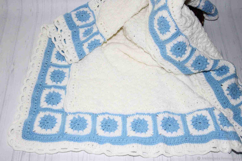 """Пледы и одеяла ручной работы. Ярмарка Мастеров - ручная работа. Купить Плед """"Голубая лагуна"""". Handmade. Подарок, плед крючком"""