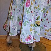 Одежда handmade. Livemaster - original item Two-tiered skirt made of Italian thin cotton. Handmade.