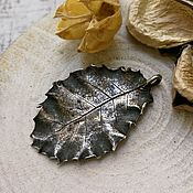 Украшения handmade. Livemaster - original item Silver Holly leaf pendant. Handmade.