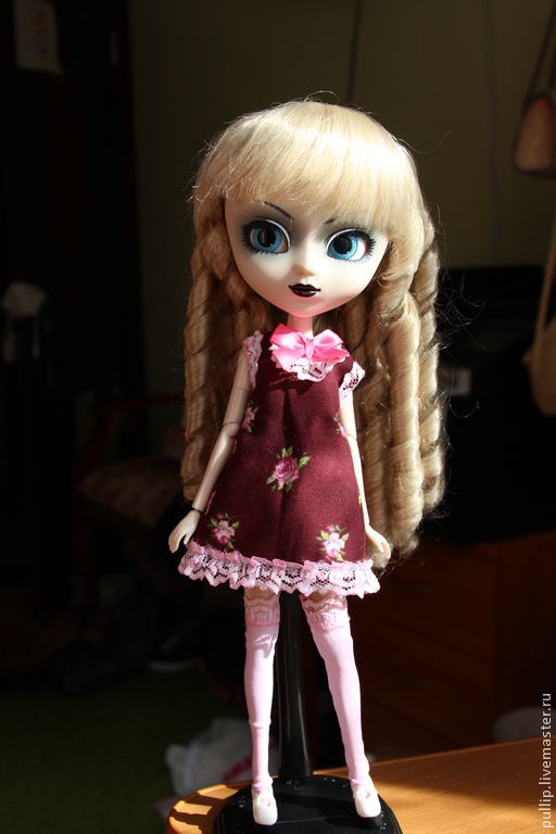 Одежда для кукол ручной работы. Ярмарка Мастеров - ручная работа. Купить Вишневый зефир. Handmade. Pullip, шарнирная кукла, капрон