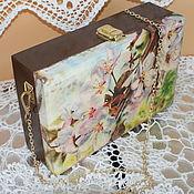 Сумки и аксессуары handmade. Livemaster - original item Wooden pouch Apple blossom. Handmade.