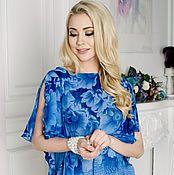 Одежда ручной работы. Ярмарка Мастеров - ручная работа Топ нарядный, синий топ. Handmade.