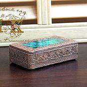 Для дома и интерьера handmade. Livemaster - original item Jewelry box, decoupage, small storage box. Handmade.