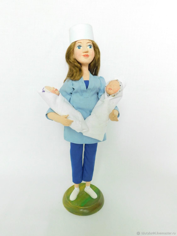 Коллекционные куклы ручной работы. Ярмарка Мастеров - ручная работа. Купить АКУШЕРКА авторская коллекционная кукла. Handmade. Авторская кукла