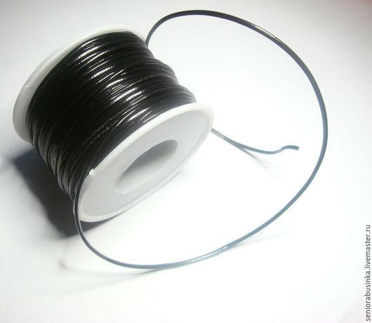 """Для украшений ручной работы. Ярмарка Мастеров - ручная работа. Купить Шнур эко кожа """"Черный"""". Handmade. Черный, шнур"""