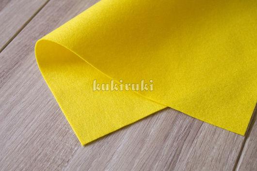 Валяние ручной работы. Ярмарка Мастеров - ручная работа. Купить Желтый мягкий корейский фетр. Handmade. Фетр, фетр для творчества