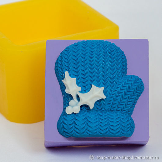 Silicone mold for soap 'mitten 2D', Form, Shahty,  Фото №1