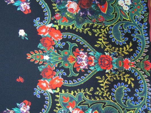 Шитье ручной работы. Ярмарка Мастеров - ручная работа. Купить Трикотаж цветной арт.16 ТЦ-7 (Корея) купон на черном. Handmade.