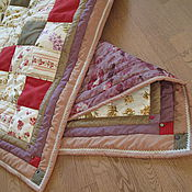 Для дома и интерьера ручной работы. Ярмарка Мастеров - ручная работа Лоскутное одеяло Дачное ягодно-цветочное. Handmade.