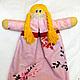 Пижамница комфортер игрушка кукла  Общий вид, видна нижняя юбка, в которую убирают пижаму