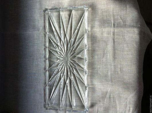 Винтажная посуда. Ярмарка Мастеров - ручная работа. Купить Хрустальный поднос (Германия). Handmade. Поднос, поднос для фужеров, декоративная посуда