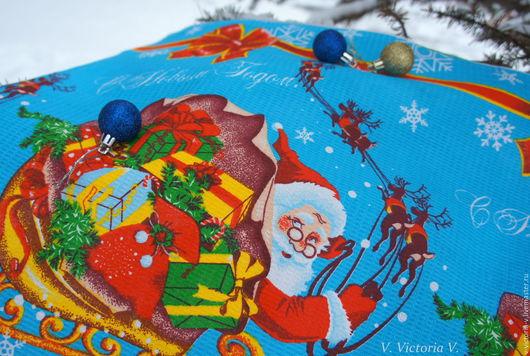 """Новый год 2017 ручной работы. Ярмарка Мастеров - ручная работа. Купить Новогоднее полотенце """"Дед Мороз с подарками"""". Handmade. рождество"""