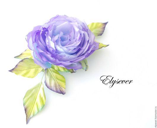 """Броши ручной работы. Ярмарка Мастеров - ручная работа. Купить Брошь """"Роза"""". Handmade. Фиолетовый, свечение, яркая брошь"""