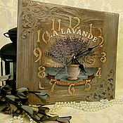Для дома и интерьера handmade. Livemaster - original item Vintage wall clock