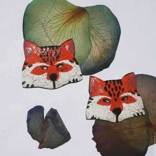 """Броши ручной работы. Ярмарка Мастеров - ручная работа. Купить брошь """"лиса"""". Handmade. Рыжий, брошь с эмалью"""