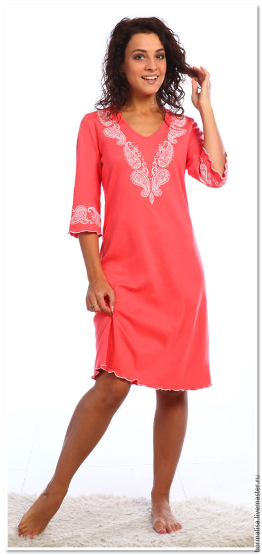 """Белье ручной работы. Ярмарка Мастеров - ручная работа. Купить Сорочка """"Night Sleeper"""". Handmade. Бирюзовый, сорочка, одежда для женщин"""