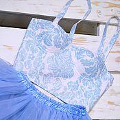 Одежда ручной работы. Ярмарка Мастеров - ручная работа Бюстье + юбка пачка небесного цвета. Handmade.