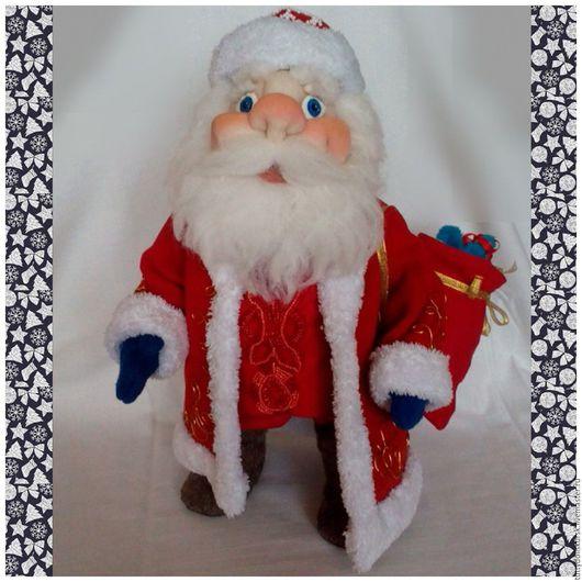 Сказочные персонажи ручной работы. Ярмарка Мастеров - ручная работа. Купить Дед Мороз. Кукла. Фигурка.. Handmade. Ярко-красный