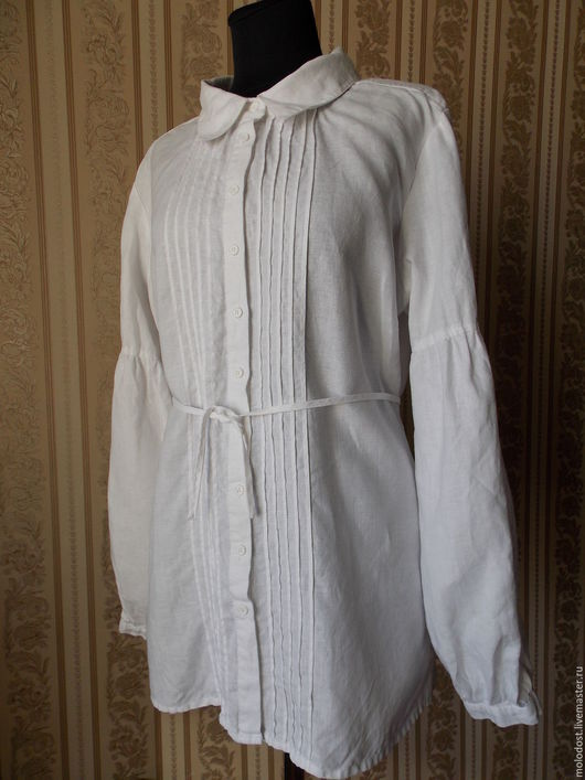 Одежда. Ярмарка Мастеров - ручная работа. Купить Рубашка.Melvin Размер 52. Лен 100%. Handmade. Платье, лён натуральный