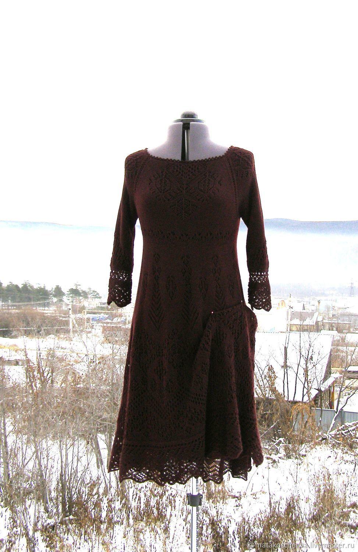 Платья ручной работы. Ярмарка Мастеров - ручная работа. Купить Платье в цвете бордо. Handmade. Бордовый, шерстяное