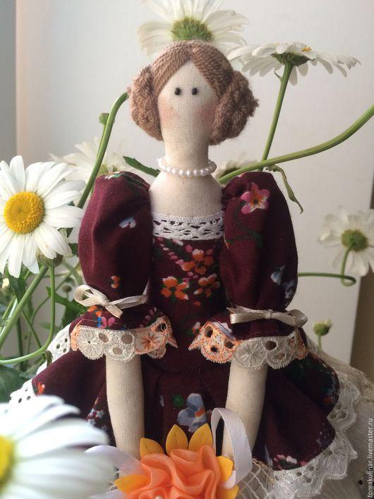 Куклы Тильды ручной работы. Ярмарка Мастеров - ручная работа. Купить Интерьерная кукла Бриджит. Handmade. Бордовый, подарок маме