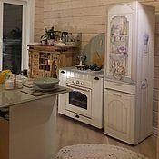 Дизайн и реклама ручной работы. Ярмарка Мастеров - ручная работа Роспись холодильника шкаф-витрина. Handmade.