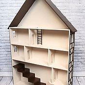 Кукольные домики ручной работы. Ярмарка Мастеров - ручная работа Детская полка - Кукольный домик. Handmade.