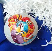 """Подарки к праздникам ручной работы. Ярмарка Мастеров - ручная работа Ёлочный шар """"Петушок"""". Handmade."""