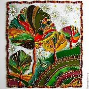 Картины и панно ручной работы. Ярмарка Мастеров - ручная работа панно из стекла, фьюзинг  Там, в моём сентябре. Handmade.