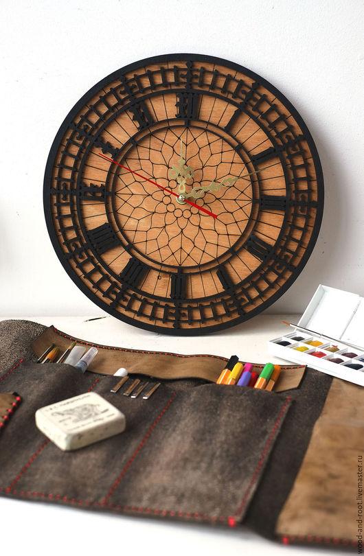 Часы для дома ручной работы. Ярмарка Мастеров - ручная работа. Купить Часы настенные Биг Бен. Handmade. Коричневый, часы