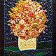 Panel Sunny bouquet. Semi-precious stones, Murano glass, Pictures, St. Petersburg,  Фото №1