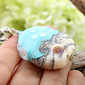 Украшения handmade. Livemaster - original item Briz - copyright bead lampwork pendant. Handmade.