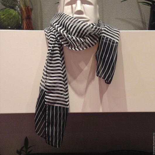 Винтажная одежда и аксессуары. Ярмарка Мастеров - ручная работа. Купить Платок Шарфик натуральный шелк 27Х160 см новый. Handmade.