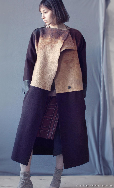 Long coat from felt, Long Luxury Сoat, Winter Long Coat, Coats, St. Petersburg,  Фото №1