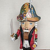 Народные украшения ручной работы. Ярмарка Мастеров - ручная работа Щелкунчик большой с подвижными ручками. Handmade.