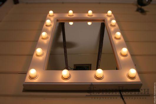 Зеркала ручной работы. Ярмарка Мастеров - ручная работа. Купить Зеркало с подсветкой, гримерное. Handmade. Гримерное зеркало, зеркало в раме