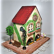 "Подарки к праздникам handmade. Livemaster - original item Tea house with light ""Provence"" 2 in 1. Handmade."