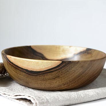 Посуда ручной работы. Ярмарка Мастеров - ручная работа Деревянная чаша, деревянная салатница. Handmade.