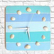 Для дома и интерьера handmade. Livemaster - original item Watch with seashells Sea Blue. Handmade.
