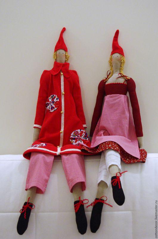 Куклы Тильды ручной работы. Ярмарка Мастеров - ручная работа. Купить Рождественские Тильды. Handmade. Кукла ручной работы, подарок