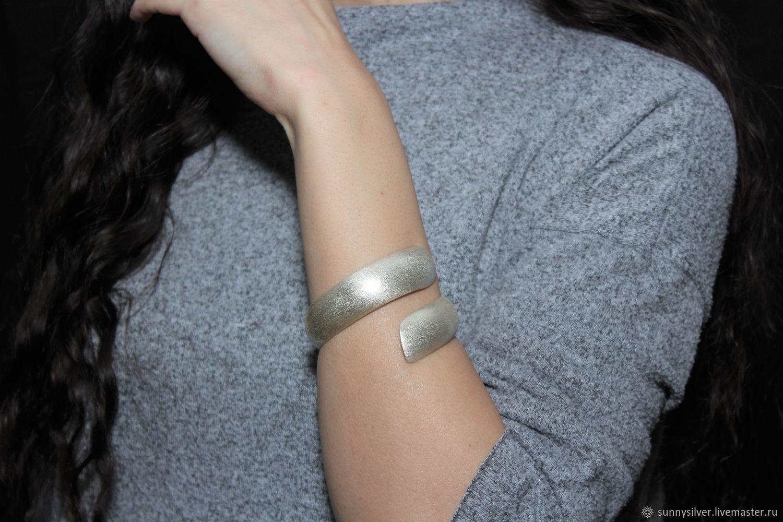 Minima Series Curl bracelet in brushed silver ASH0009, Cuff bracelet, Yerevan,  Фото №1