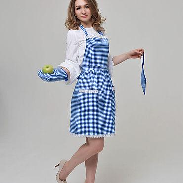 Текстиль ручной работы. Ярмарка Мастеров - ручная работа Фартук для кухни с комплектом прихваток. Handmade.