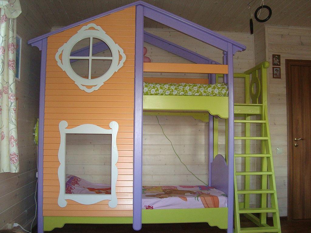 """Детская ручной работы. Ярмарка Мастеров - ручная работа. Купить кровать """"Сказочный домик"""". Handmade. Детская комната, двухэтажная кровать"""