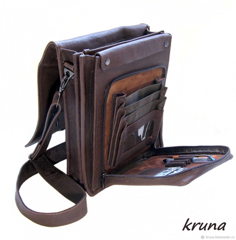 9ff2c723fe95 Большая мужская кожаная сумка-планшет – купить в интернет-магазине ...
