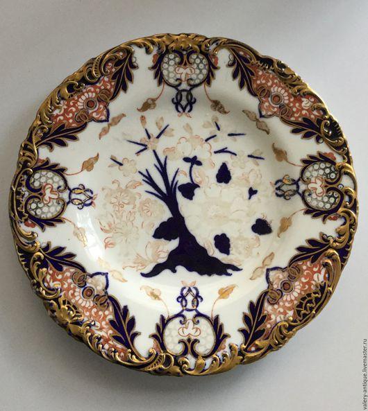 Винтажная посуда. Ярмарка Мастеров - ручная работа. Купить Антикварная кабинетная тарелка Royal Crown Derby-образец королей.. Handmade.