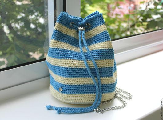 """Рюкзаки ручной работы. Ярмарка Мастеров - ручная работа. Купить Рюкзак """"Морской"""". Handmade. Комбинированный, сумка ручной работы"""