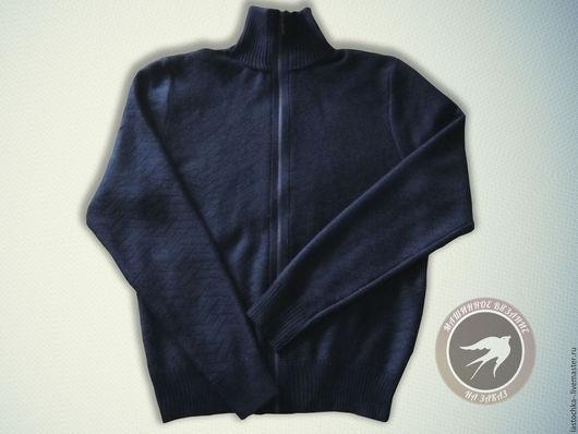 Кофты и свитера ручной работы. Ярмарка Мастеров - ручная работа. Купить Теплая мужская кофта. Handmade. Тёмно-синий