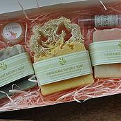 Косметика ручной работы. Ярмарка Мастеров - ручная работа Подарочный набор натурального мыла на 3 кусочка. Handmade.